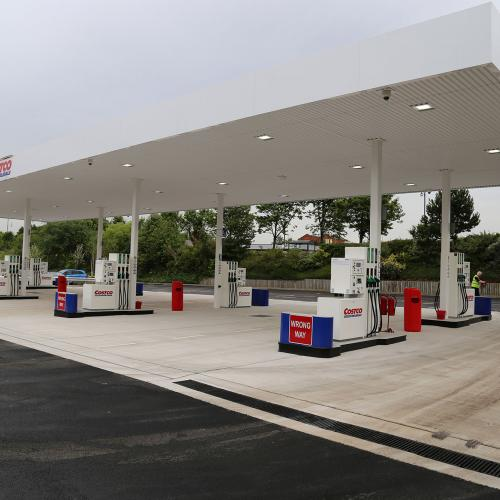 Petrol Station Construction for Costco Liverpool